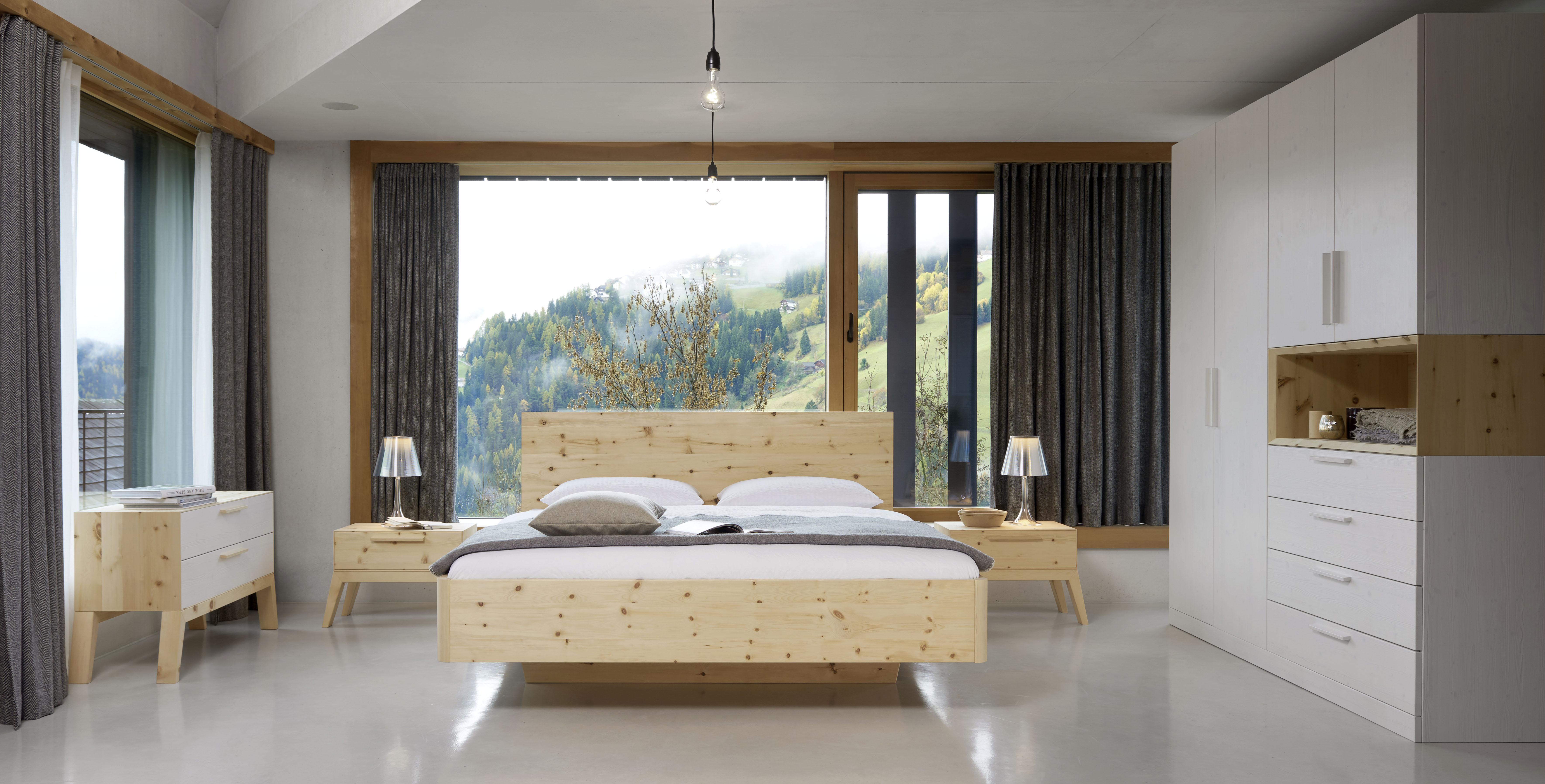 Zirbenholzbett aus original Alpenzirbe